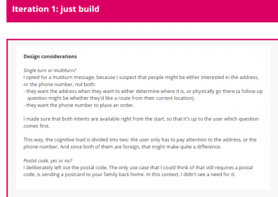 Iteration 1: Just build