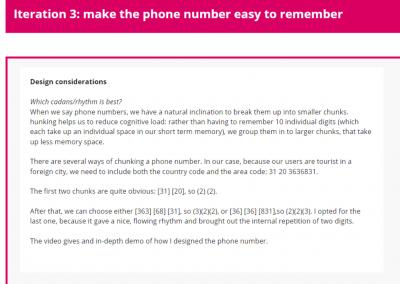 Iteration 3: improve phone number